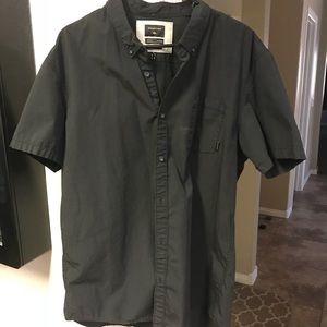 Quiksilver Black fitted shirt short sleeve shirt